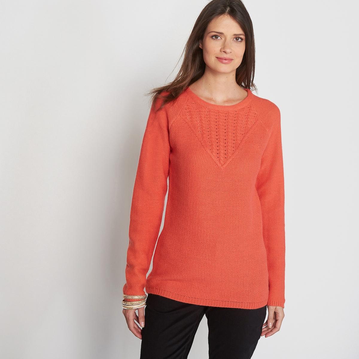 Пуловер из оригинального трикотажа, 15% шерсти