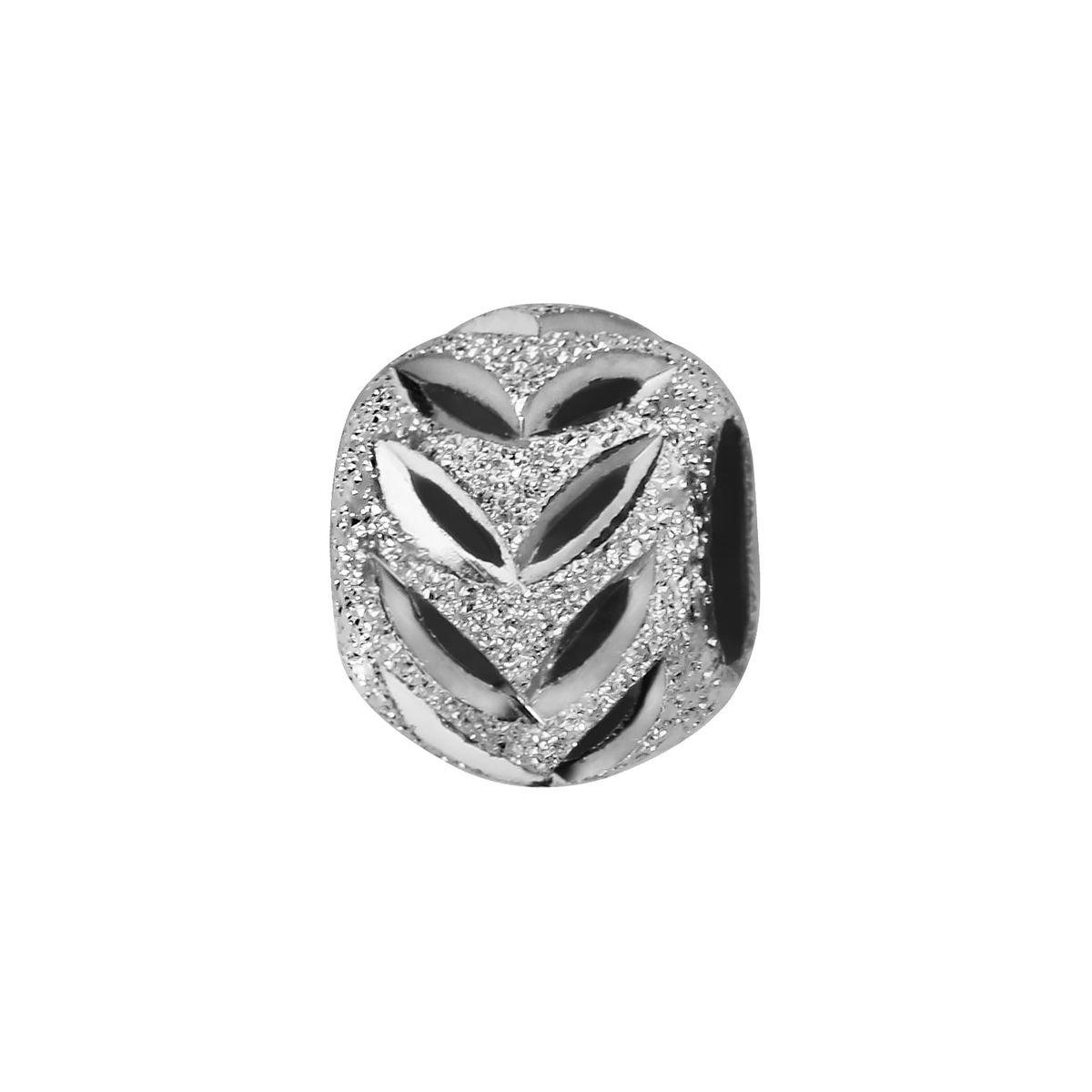 Charm Boule Feuilles Argent 925 - Compatible Pandora, Trollbeads, Chamilia, Biagi