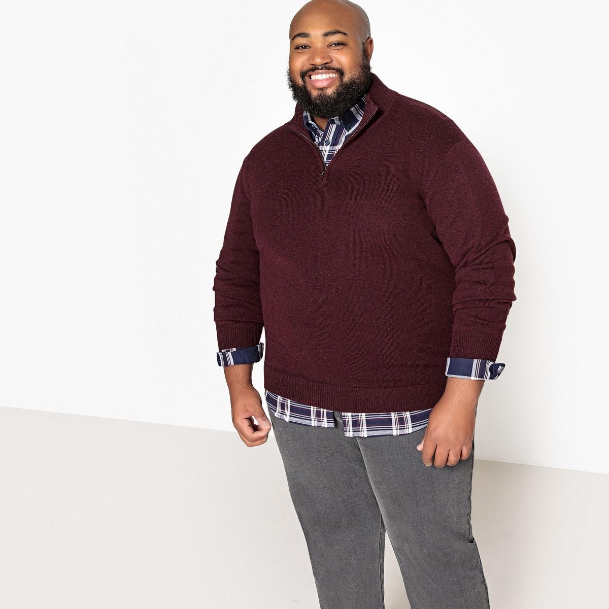 Пуловер из коллекции больших размеров с воротником-стойкой из тонкого трикотажа одежда больших размеров ji xing beauties mm 200