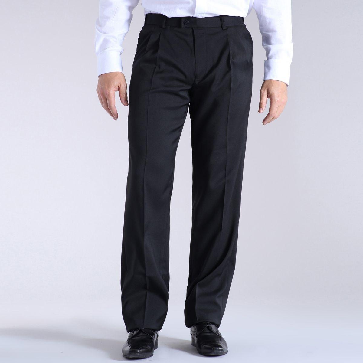 Pantalon droit en synthétique