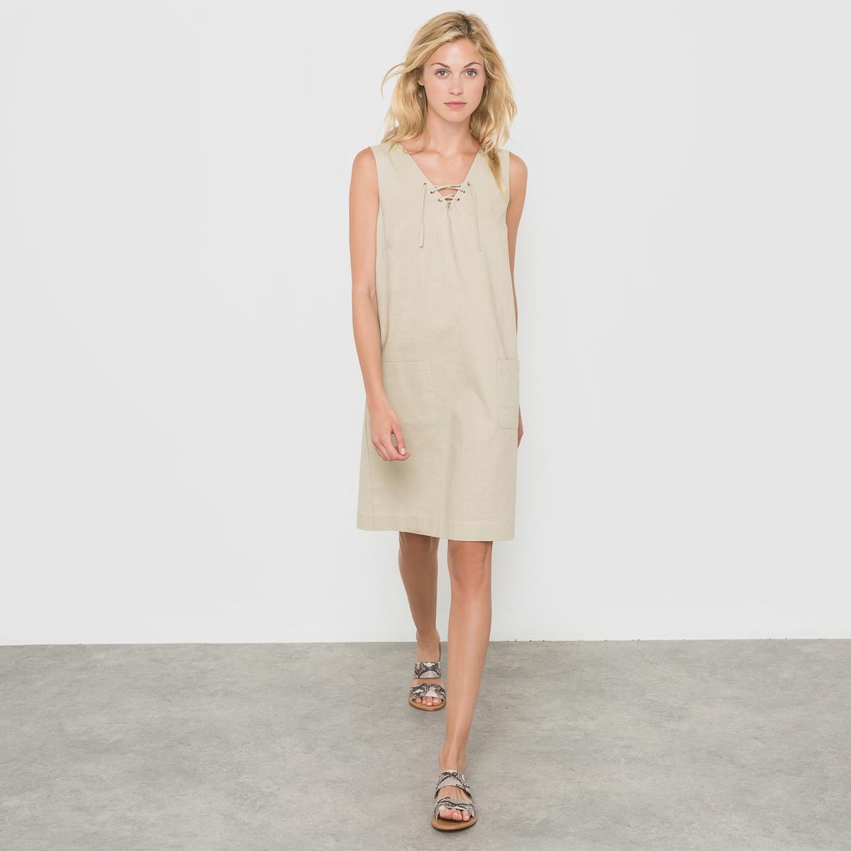 Платье из льна/хлопка