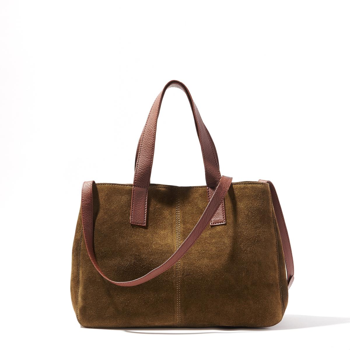 Сумка кожанаяКожаная сумка-шоппер, R Studio.Красивая кожаная сумка идеальна для выходов в свет. Можно носить в руке или на плече. Стильная модель. Состав и описаниеМатериал : верх из невыделанной яловичной кожи                 подкладка из текстиляМарка : R Studio.Размеры : Ш36 x В26 x 14 смЗастежка : магнитная кнопка2 кармана для мобильных1 карман на молнииРегулируемый плечевой ремень<br><br>Цвет: хаки<br>Размер: единый размер