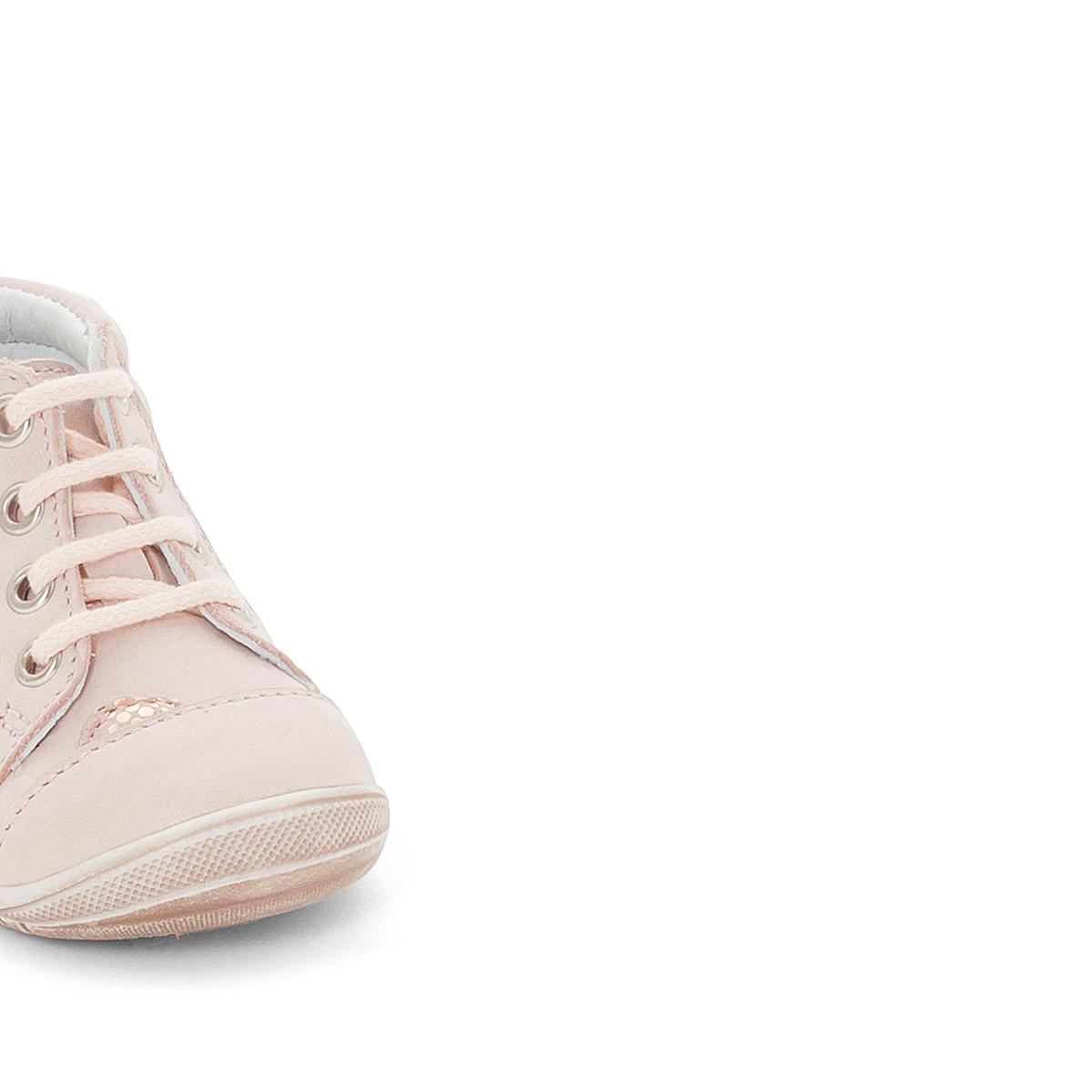 Ботильоны кожаные PrimroseВерх : кожа (яловичная)    Подкладка : кожа   Стелька : кожа   Подошва : эластомер   Застежка : планка-велкро<br><br>Цвет: светло-розовый