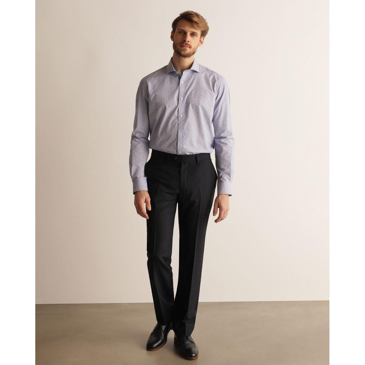 Pantalon habillé regular bleu
