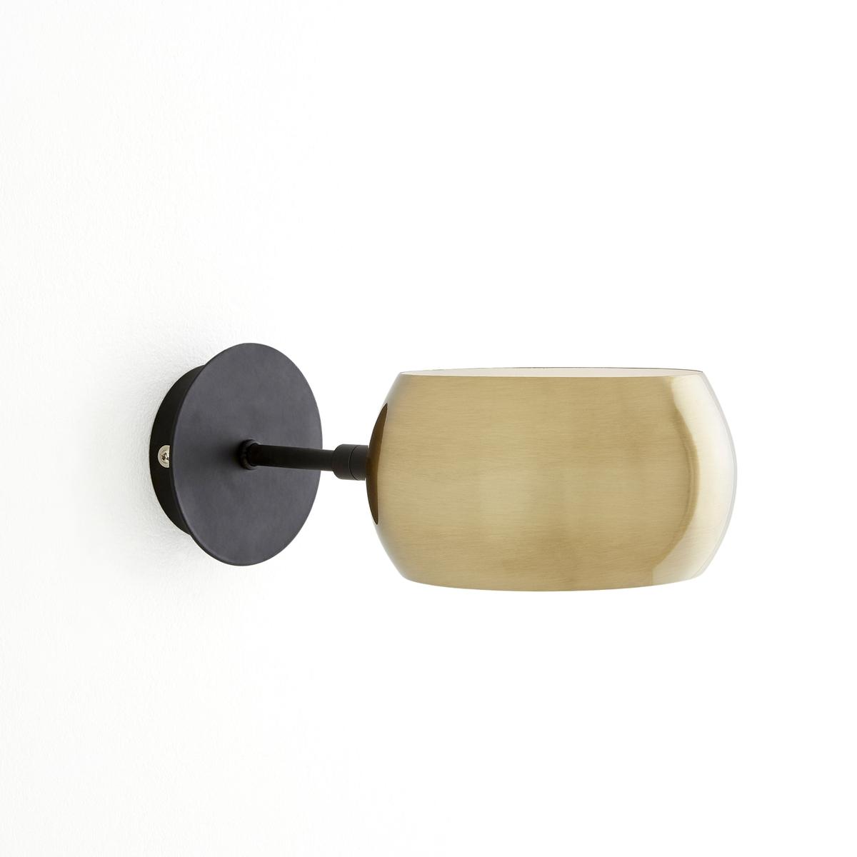 Бра из черного металла и металла с отделкой под латунь, ELORI бра настенное из металла elori