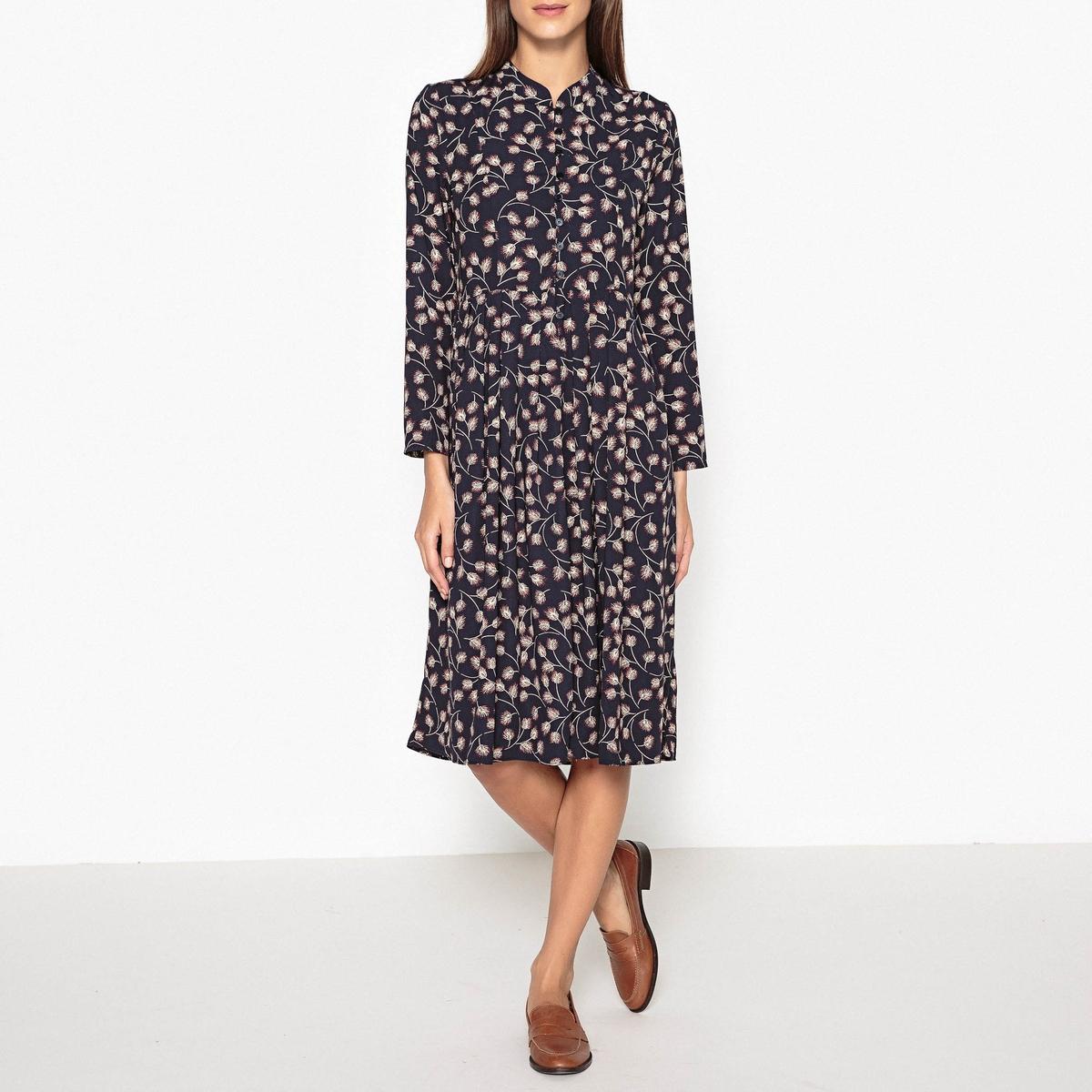 Платье с рисунком и плиссировкой DAN