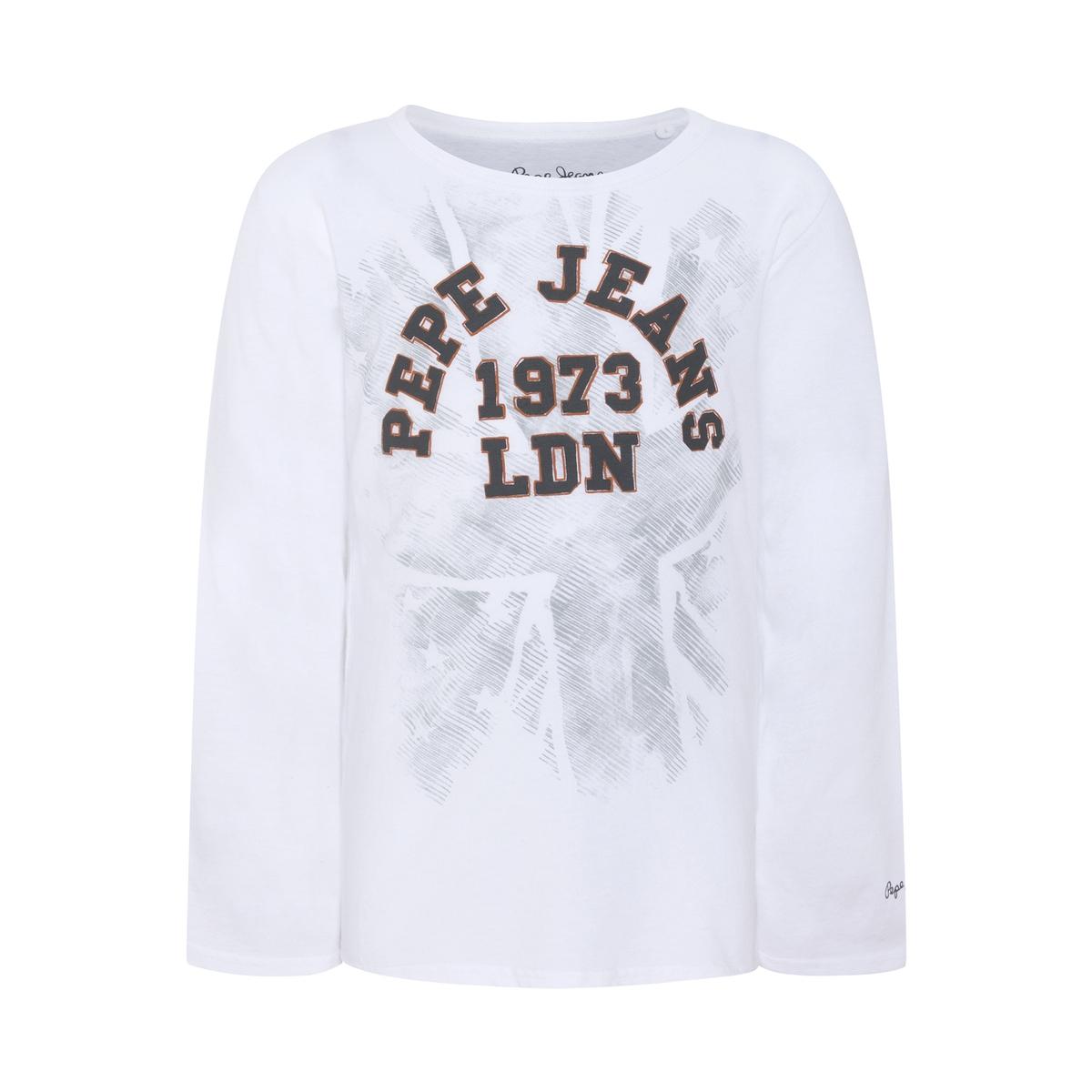 Футболка с рисунком и длинными рукавами, 8-16 лет футболка с длинными рукавами uv 8 16 лет