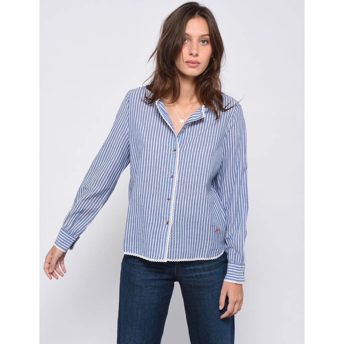 Рубашка с принтом в полоску и длинными рукавами COSETTE
