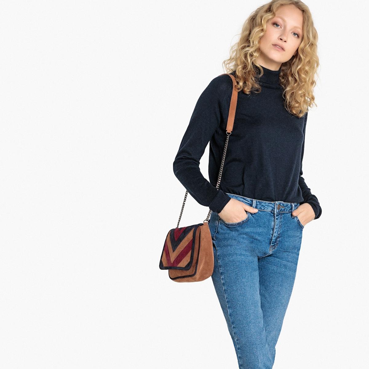 Пуловер базовый с отворачивающимся воротником, форма футляра La Redoute Collections