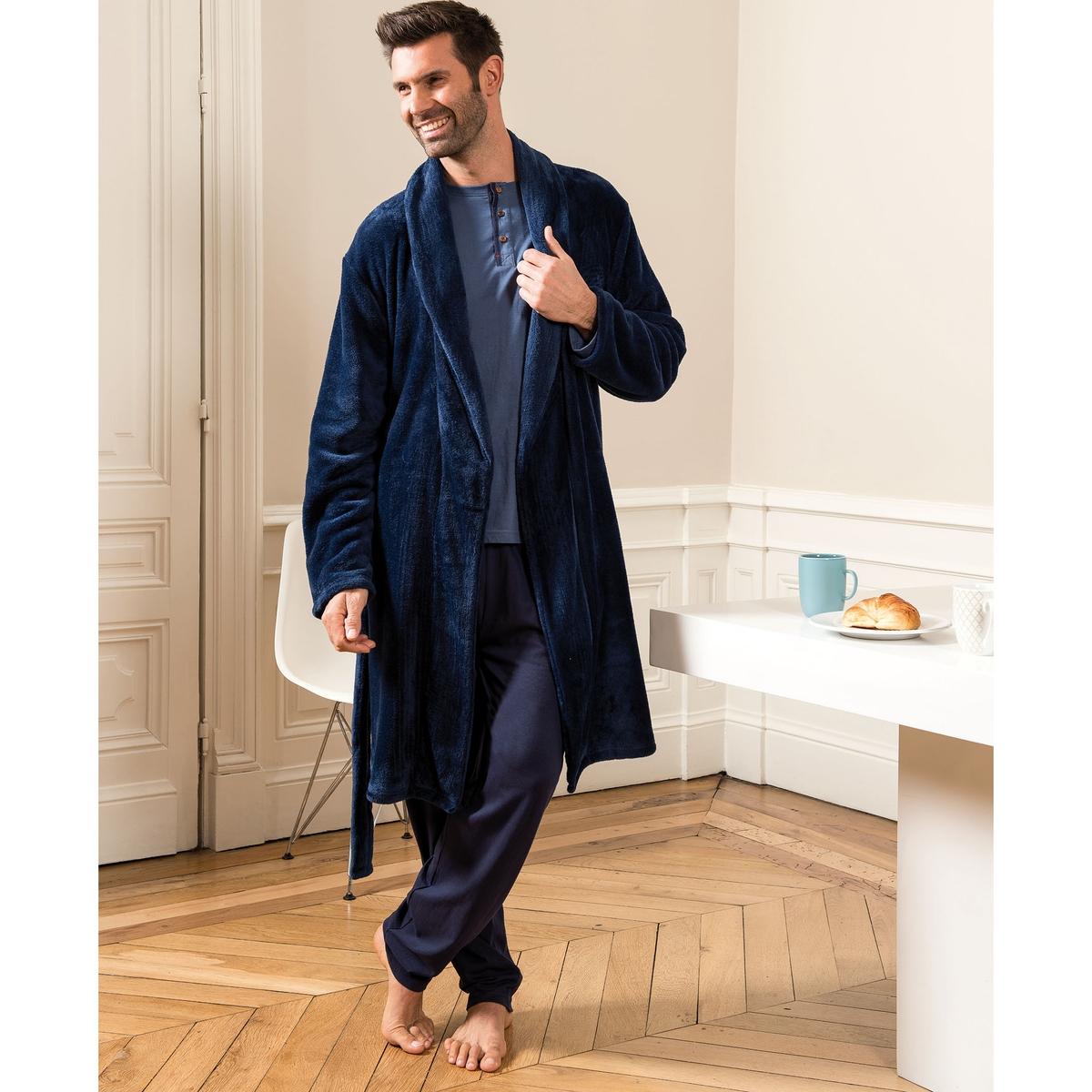 Халат La Redoute Из переработанного велюра XL синий халат la redoute из переработанного велюра xxl синий