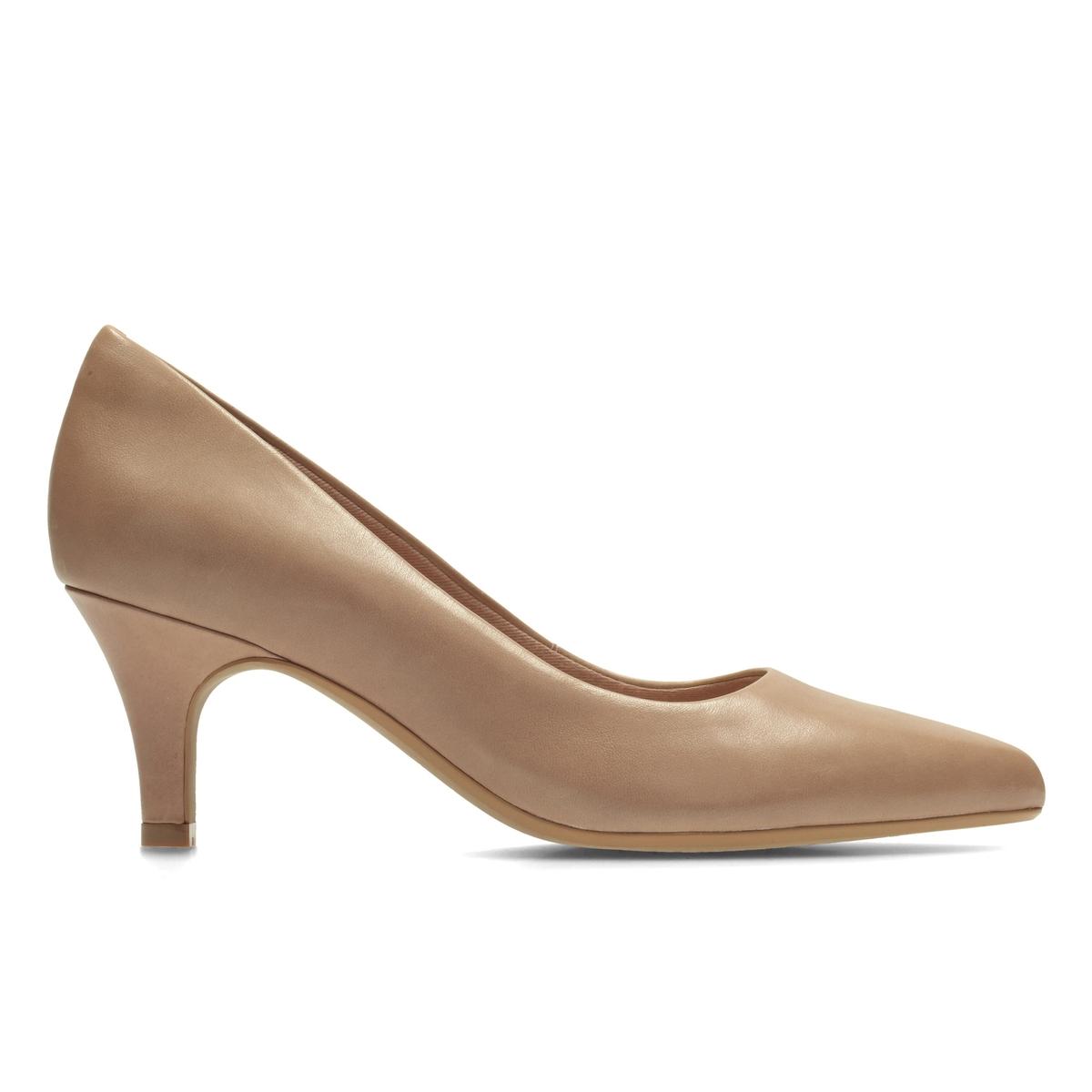 Туфли кожаные Isidora FayeВерх : Кожа.   Подкладка : текстиль   Стелька : синтетика   Подошва : Каучук   Высота каблука : 6,5 см   Форма каблука : тонкий каблук   Мысок : закругленный   Застежка : Без застежки<br><br>Цвет: розовый