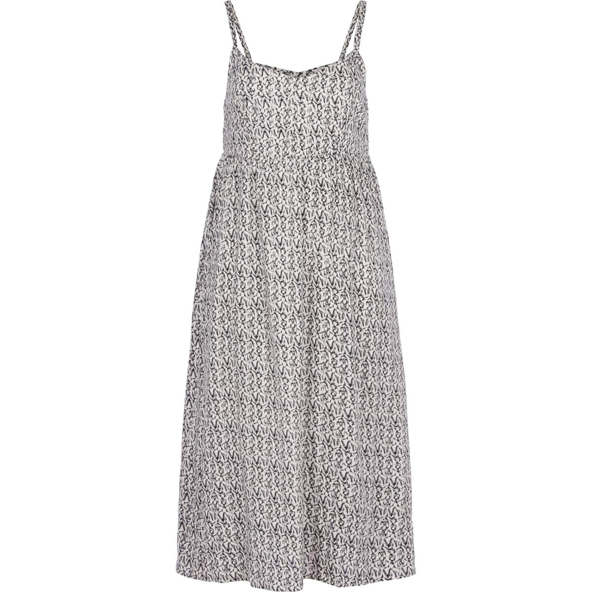 Платье ZIZZIПлатье ZIZZI. Длинное струящееся платье на тонких бретелях с рисунком.  100% вискоза.<br><br>Цвет: набивной рисунок
