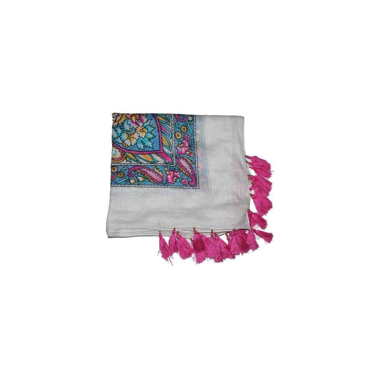 Écharpe imprimée en coton - Parapente