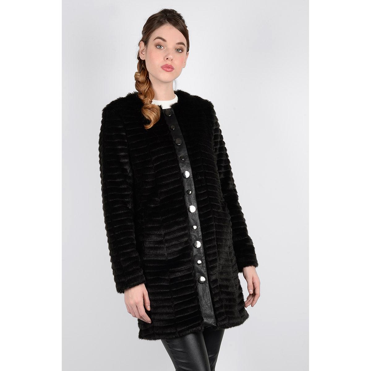 Полупальто с искусственным мехом пальто оверсайз с искусственным мехом