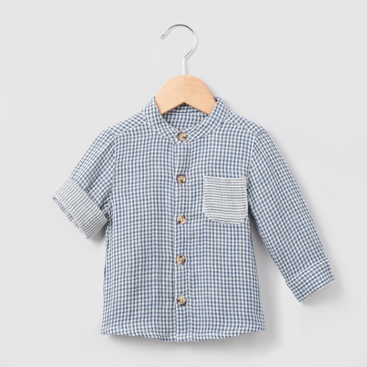 Рубашка в клетку, 1 мес. - 3 года рубашка в клетку dc atura 3 atura black