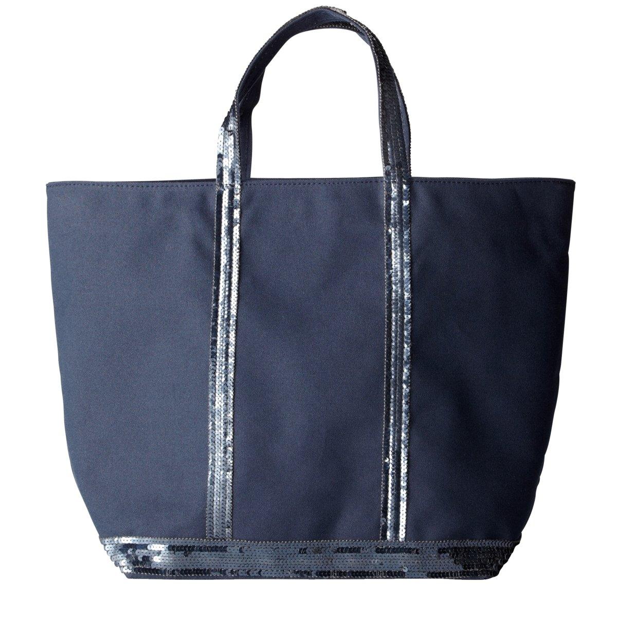 Сумка-шоппер La Redoute Средняя из парусины с блестками единый размер синий сумка la redoute из ткани с блестками h единый размер черный