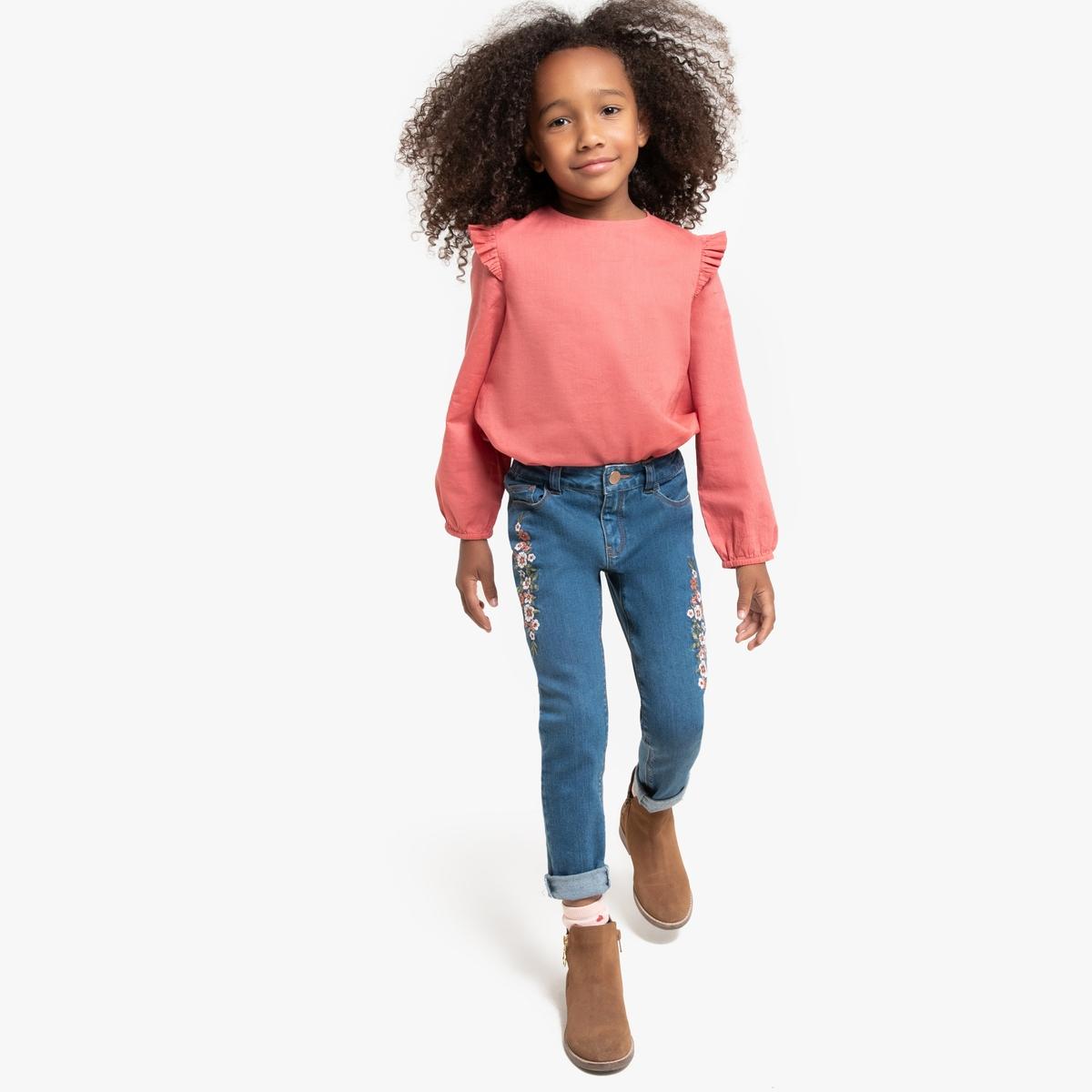 Блузка La Redoute С длинными рукавами с воланами 12 лет -150 см розовый блузка la redoute в полоску с длинными рукавами 12 лет 150 см другие