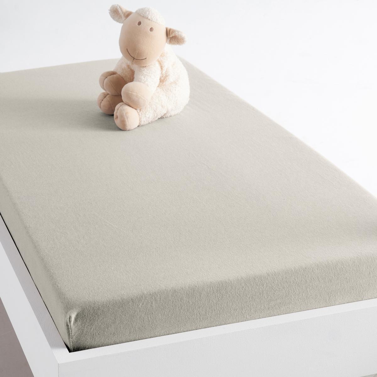 Простыня натяжная из джерси, 100% биохлопок, для детской кровати