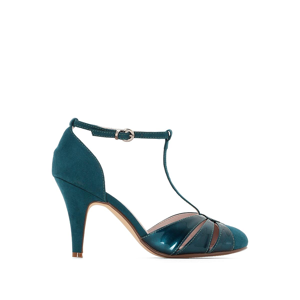 Туфли из двух материалов