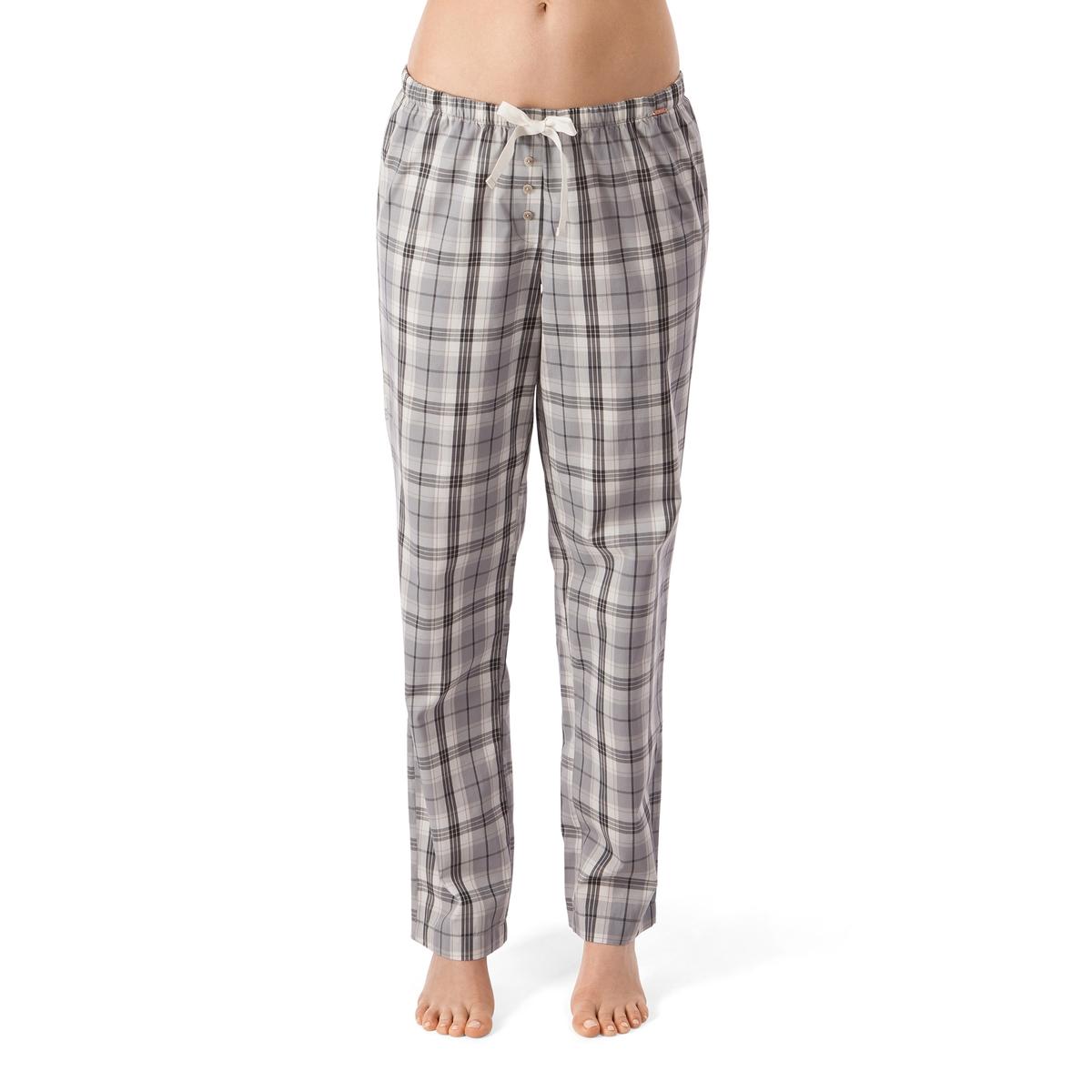 Брюки пижамные из хлопка, Sleep DreamБрюки пижамные  Sleep Dream от Skinny . Пижамные брюки прямого, очень удобного покроя с рисунком в клетку. Застежка на болты. Эластичный пояс с завязывающейся атласной лентой.Состав и детали :Материал : 100% хлопка Подкладка : -   Марка : SKINNYУход :Машинная стирка при 30°.Машинная сушка запрещена.Не гладить.<br><br>Цвет: в клетку серый/розовый