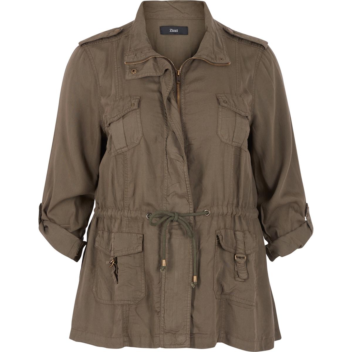 Куртка в стиле милитари<br><br>Цвет: хаки<br>Размер: 46/48 (FR) - 52/54 (RUS)
