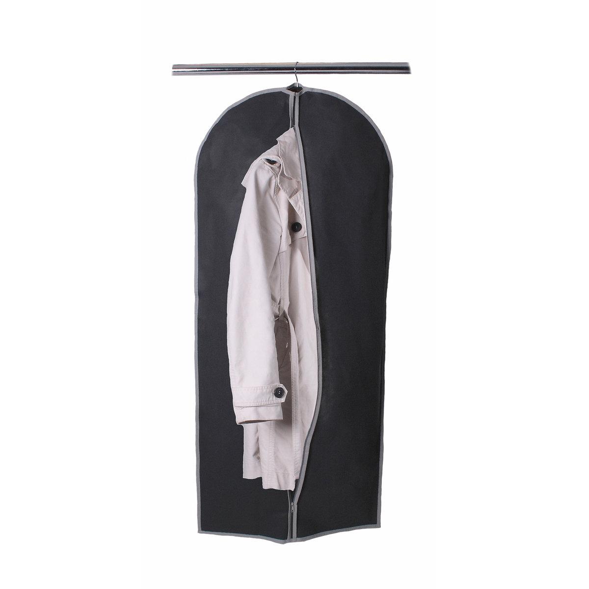 2 чехла для одежды из нетканого материалаХарактеристики 2 защитных чехлов для одежды:выполнены из нетканого материала полипропилена плотностью 80 г/м?.Застежка на молнию.Цвет: темно-серый с контрастной отделкой кантом светло-серого цвета.Размер 2 защитных чехлов для одежды:В. 135 x Д. 60 см.<br><br>Цвет: темно-серый