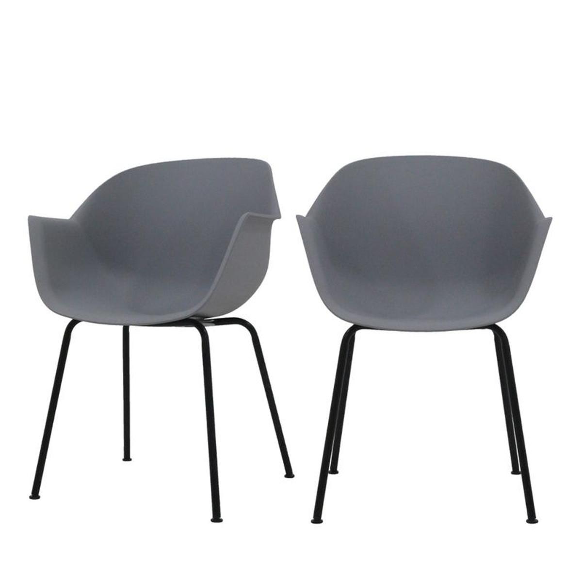 Wiseman - 2 chaises design pieds métal