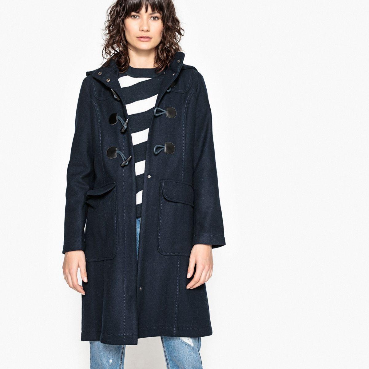 Duffle coat à capuche marine