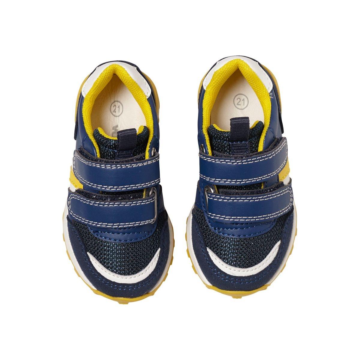 Baskets scratchées bébé garçon esprit running