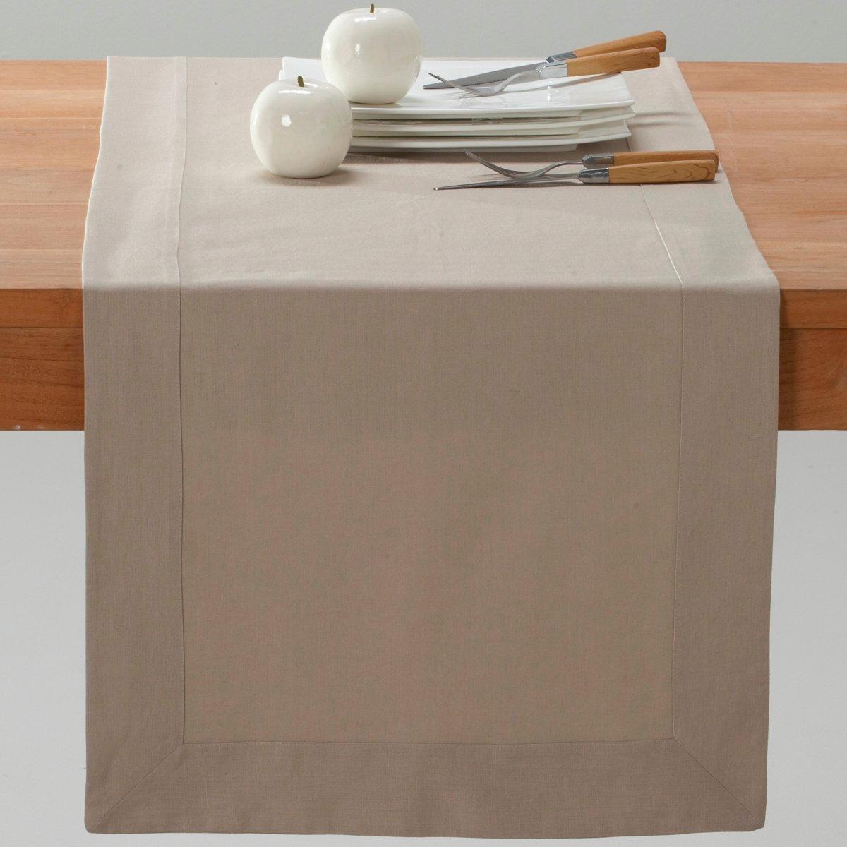 Дорожка La Redoute Столовая из смесовой ткани из льна и хлопка BORDER 50 x 150 см бежевый наволочка la redoute flooch 50 x 30 см бежевый