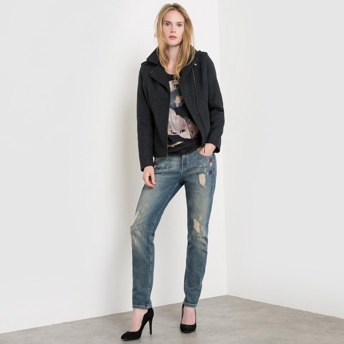Блузон короткий с зигзагообразным рисунком  Mindy пальто длинное с зигзагообразным рисунком