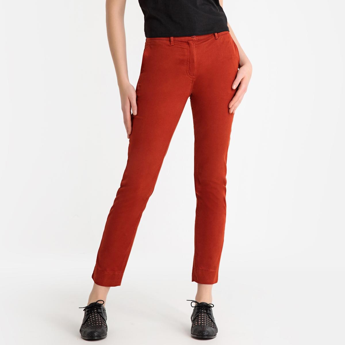 Брюки-чино La Redoute La Redoute 34 (FR) - 40 (RUS) оранжевый брюки чино la redoute la redoute 38 fr 44 rus синий