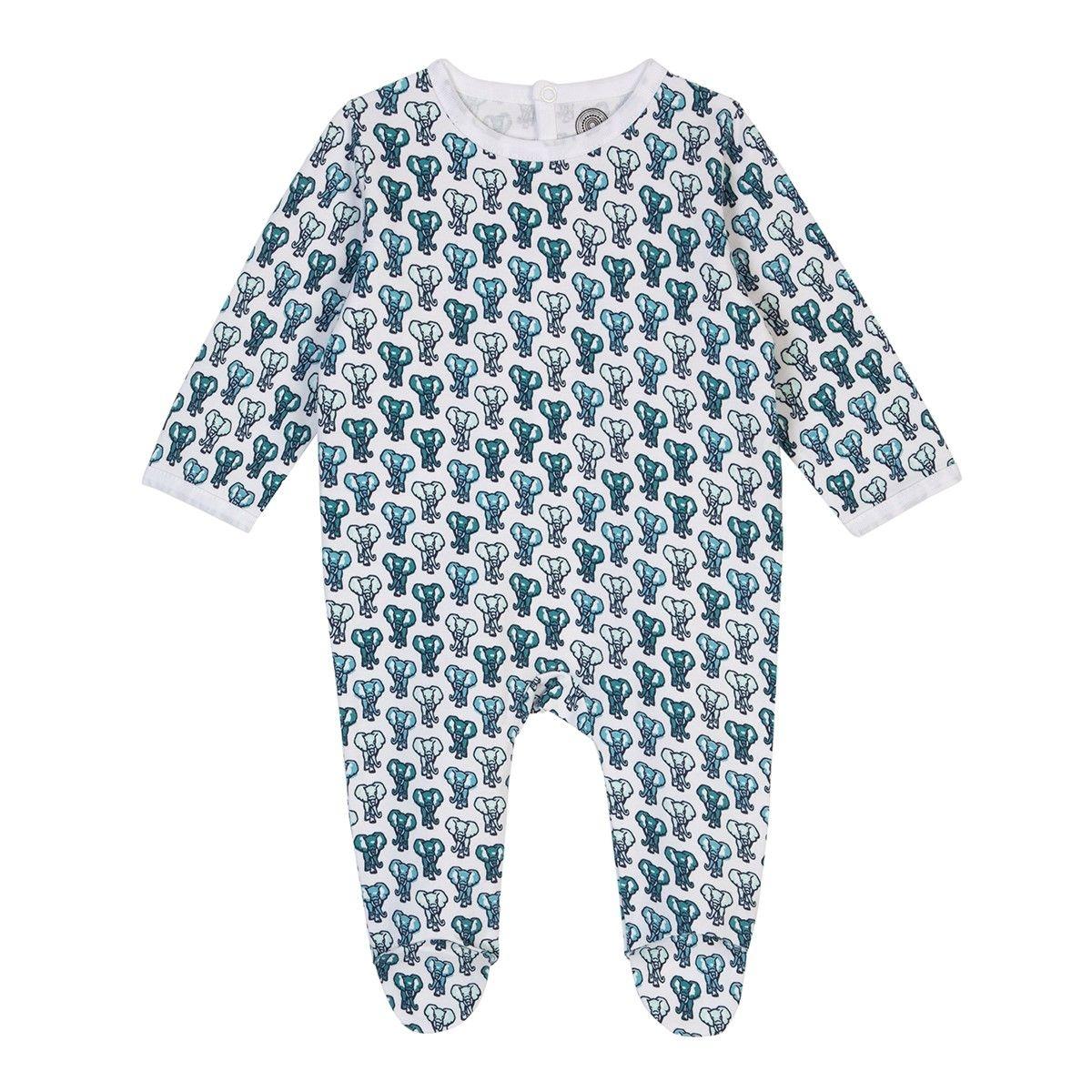 Pyjama bébé en coton bio - Imprimé Eléphant