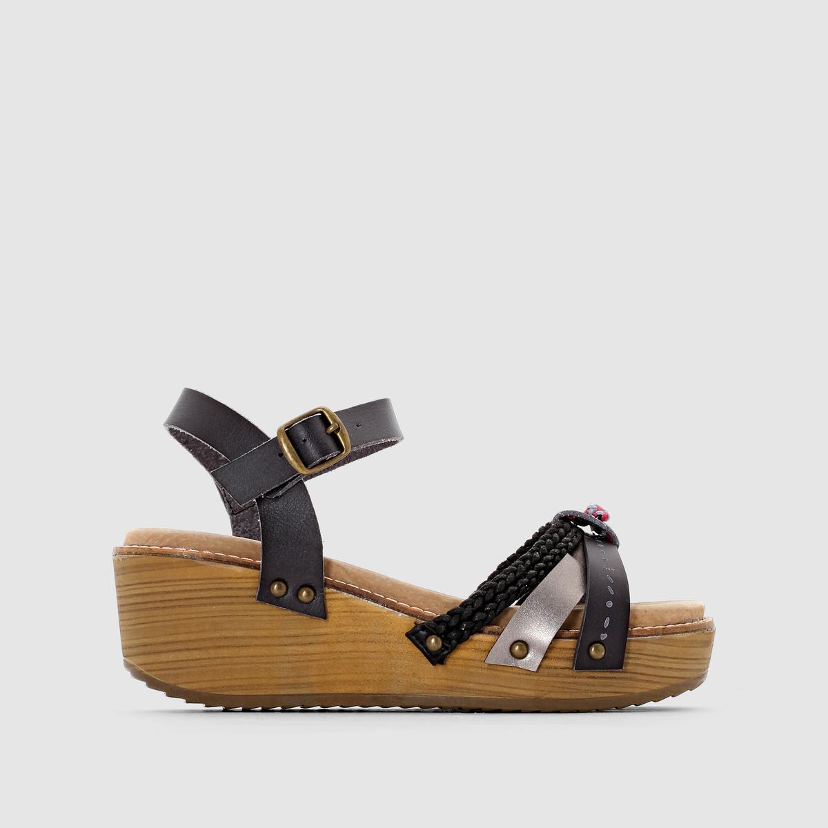 Босоножки на танкетке, ремешок вокруг щиколотки, CELINEГородской, новый и модный стиль, обувь, всегда соответствующая модным тенденциям и переменчивая, как наши предпочтения стиля, все это - Coolway ! Доказательством является эта новая модель босоножек, которую можно надеть не задумываясь !<br><br>Цвет: черный<br>Размер: 39