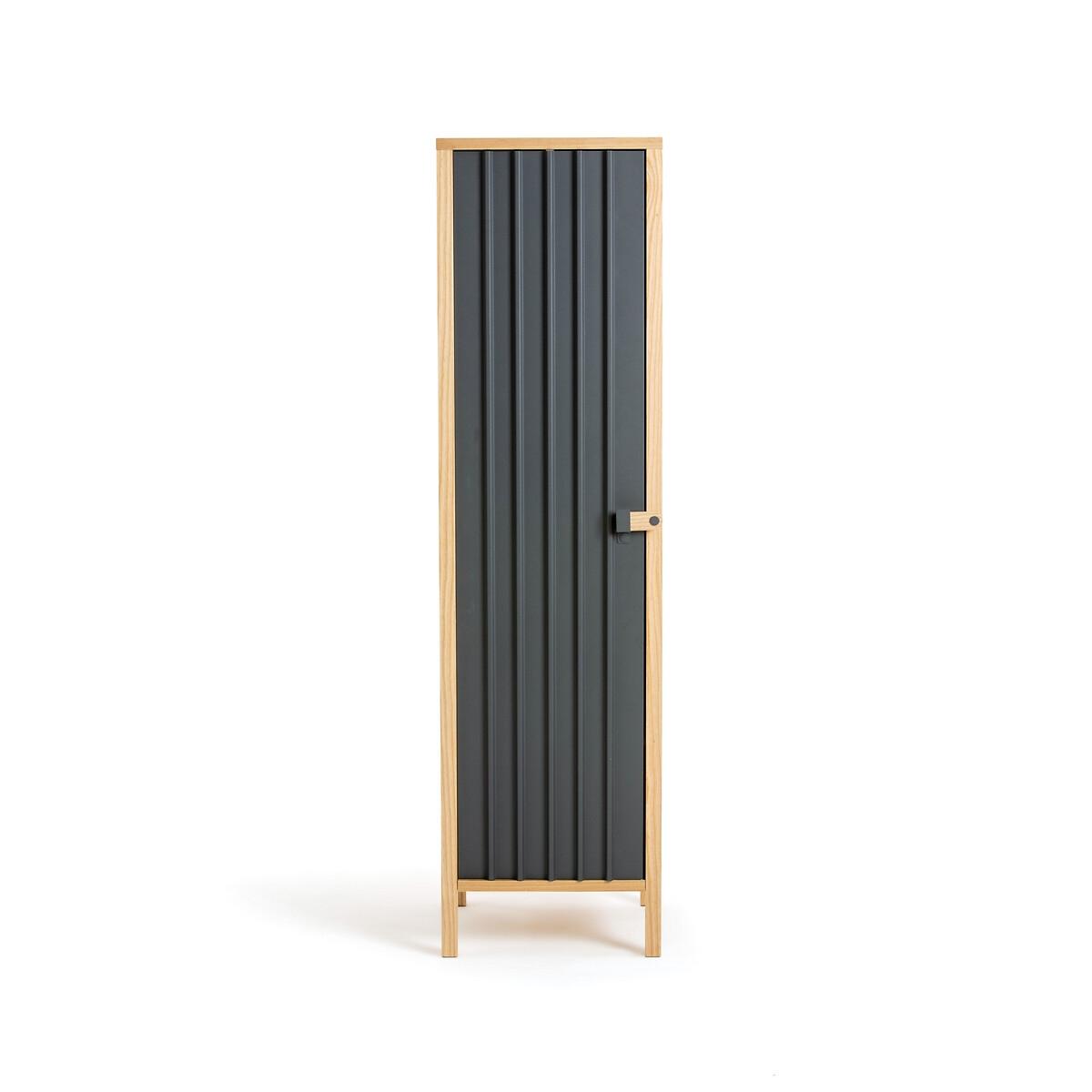 Шкаф LaRedoute С 1 дверкой Bianca единый размер серый