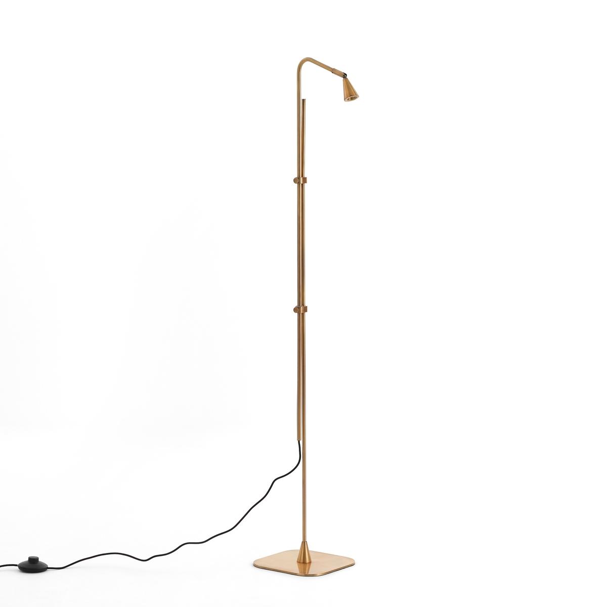 Лампа для чтения тонкая RoslynЛампа для чтения Roslyn. Благодаря своей тонкой структуре лампа легко устанавливается около дивана или кресла, чтобы обеспечить прицельный свет, регулируя высоту.Характеристики :- Из латуни- Регулируемая высота - Патрон LED 3,5W (не сменный)Размер :- В макс. 131,5 см- Основание : 20 x 20 см.- Абажур ?3,5 x В.5 см.Размеры и вес ящика :- Ш27,5 x В120 x Г11 см, 3,5 кг и Ш29 x В122 x Г24, 8,2кгДоставка :Товар может быть доставлен до двери по предварительной договоренности!Внимание ! Убедитесь в том, что товар возможно доставить на дом, учитывая его габариты (проходит в двери, по лестницам, в лифты).<br><br>Цвет: латунь
