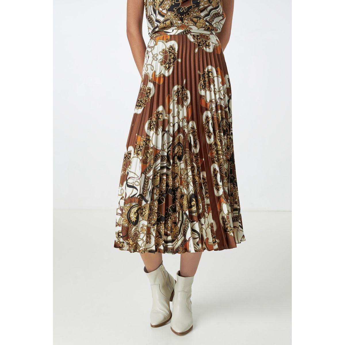 Jupe plissée à imprimé foulard