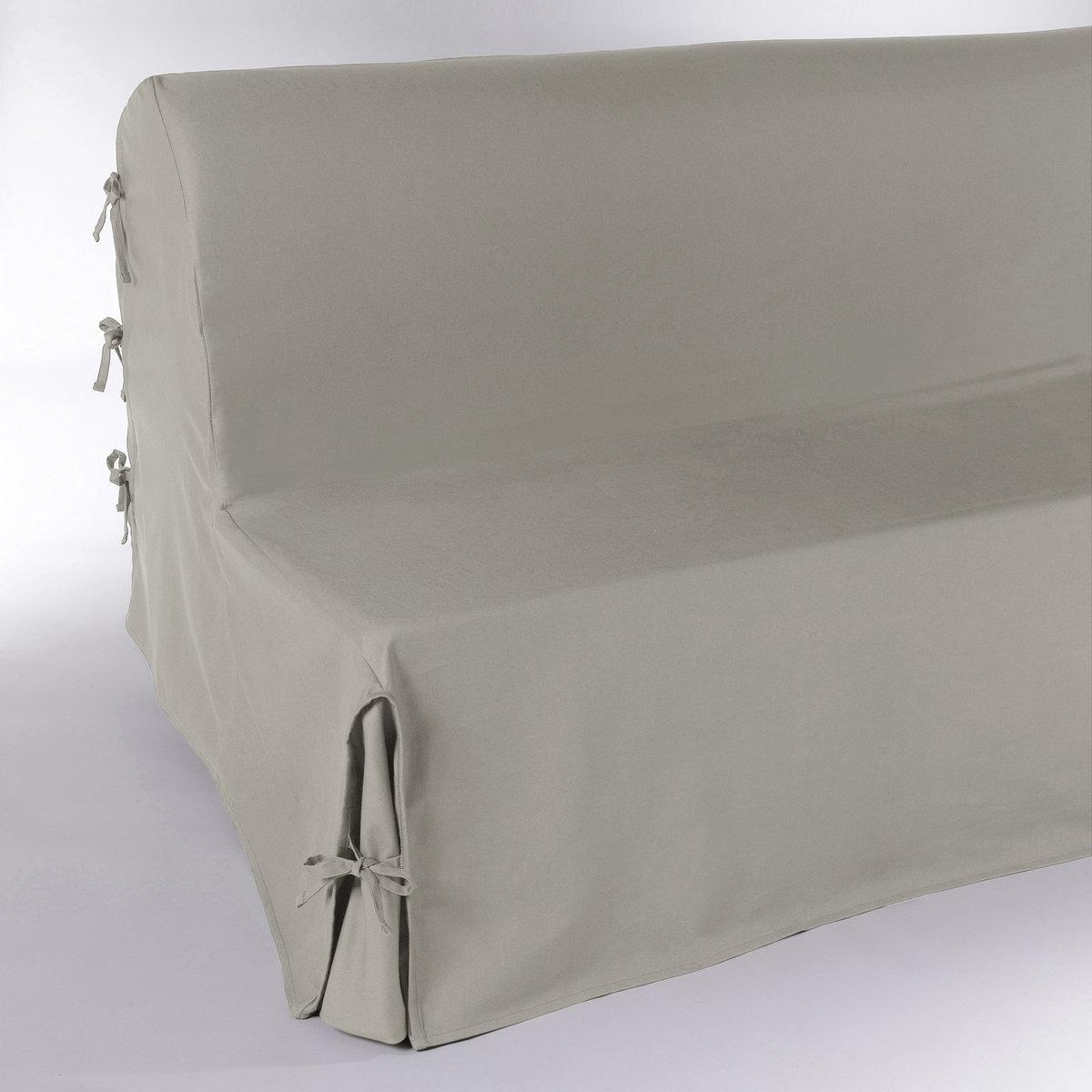 Чехол для дивана-аккордеонаЧехол для дивана-аккордеона выполнен в стильной цветовой гамме. Подарите новую жизнь дивану! Чехол из красивой плотной ткани, 100% хлопка (220 г/м?).Полностью закрывает диван включая спинку: удобные клапаны фиксируются завязками. Простой уход: стирка при 40°, превосходная стойкость цвета.Обработка против пятен.Размеры: 2 ширины на выбор. Длина в разложенном состоянии: 190 см. Качество VALEUR S?RE.  Производство осуществляется с учетом стандартов по защите окружающей среды и здоровья человека, что подтверждено сертификатом Oeko-tex®.<br><br>Цвет: облачно-серый<br>Размер: 160 cm