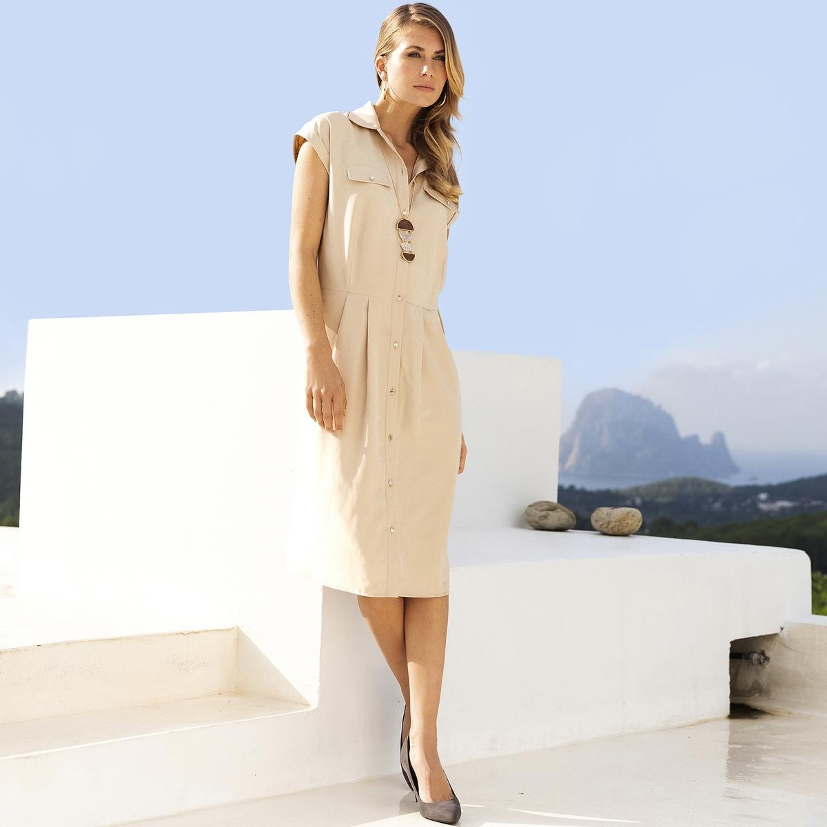 Imagen principal de producto de Vestido vaporoso, microfibra - Anne weyburn