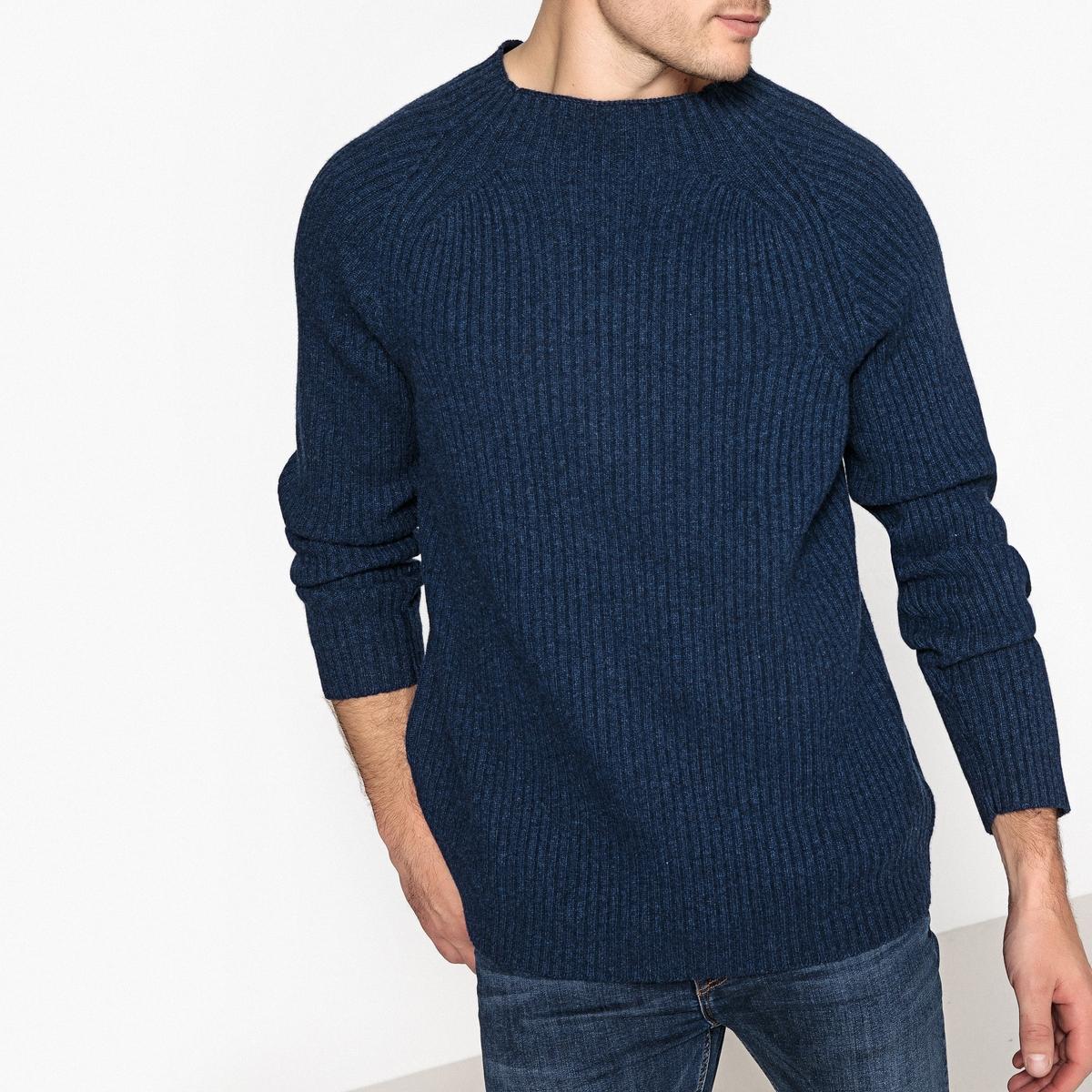 Пуловер из плотного трикотажа с воротником-стойкой