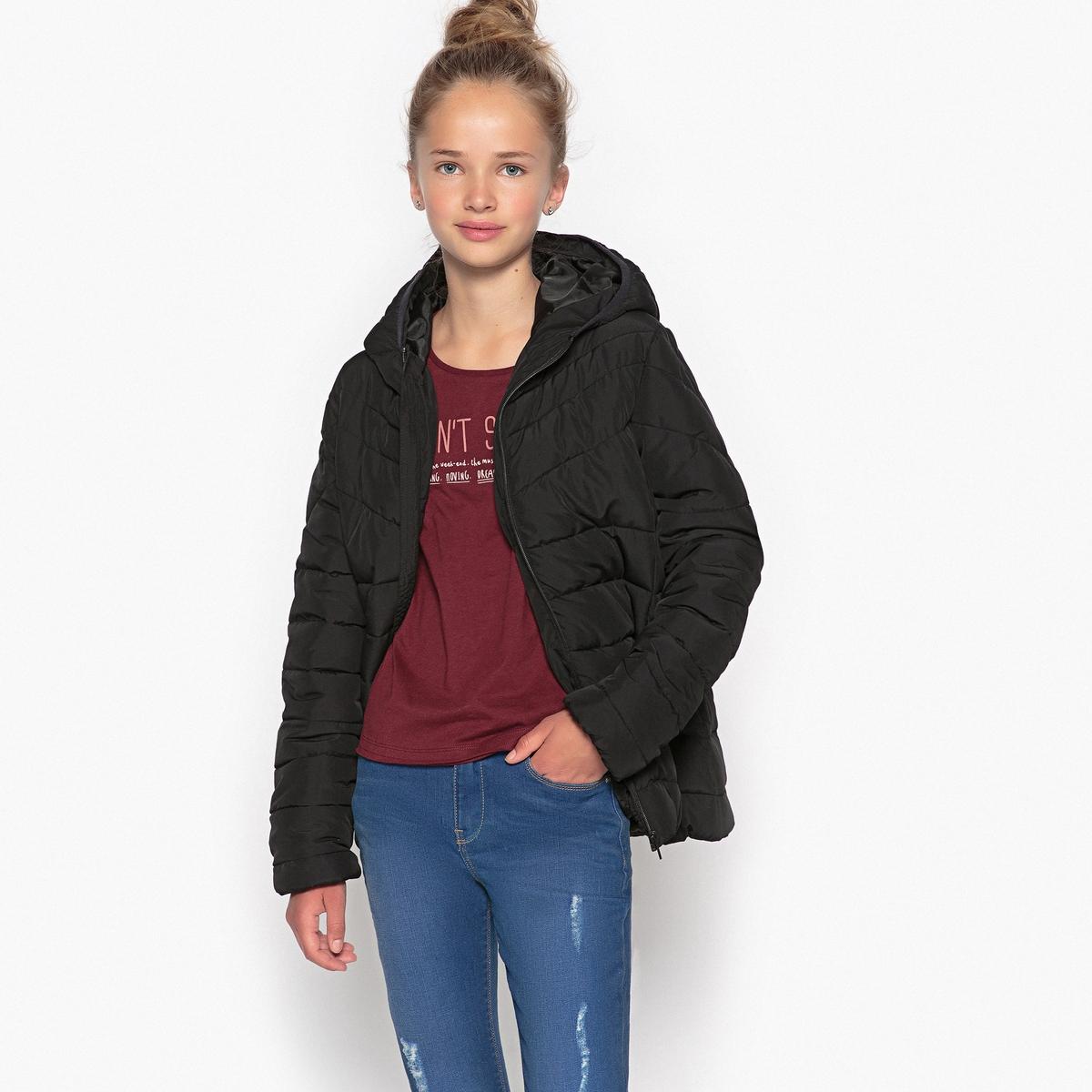 Куртка стеганая с капюшоном 10-16 лет