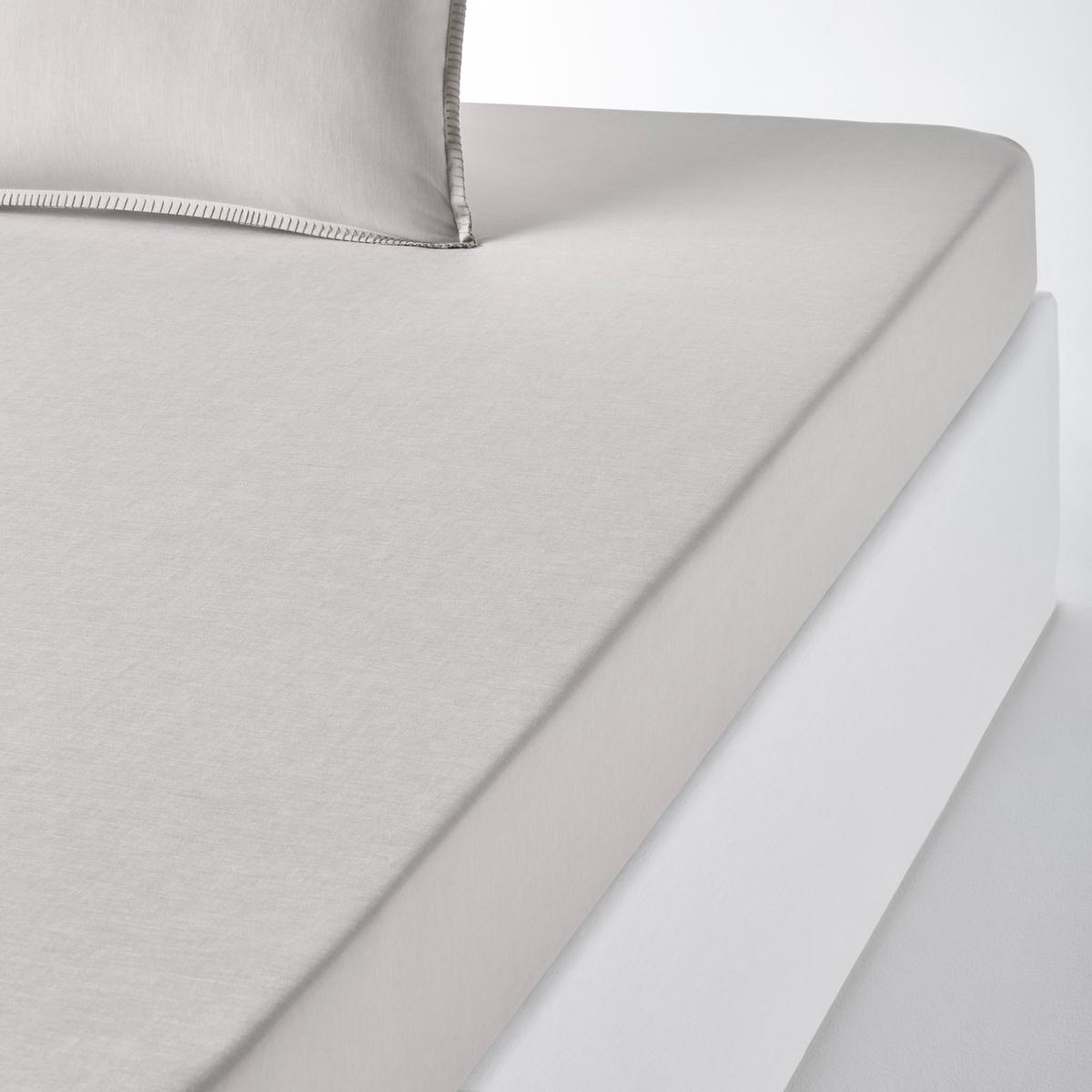 Простыня натяжная из шамбре, KOLZAХарактеристики натяжной простыни Kolza : Ткань шамбре, 100% хлопок, качество Best, 57 нитей/см? : чем больше нитей/см?, тем выше качество материала.Отделка в виде контрастных швов цвета небеленой ткани.Машинная стирка при 60 °С. Весь комплект постельного белья из шамбре Kolza Вы найдете на laredoute.ruЗнак Oeko-Tex® гарантирует, что товары прошли проверку и были изготовлены без применения вредных для здоровья человека веществ. Размеры : 90 x 190 см : 1-сп. 140 x 190 см : 2-сп. 160 x 200 см : 2-сп.180 x 200 см : 2-сп.<br><br>Цвет: желтый кукурузный,серо-зеленый,серо-коричневый,терракота<br>Размер: 160 x 200  см