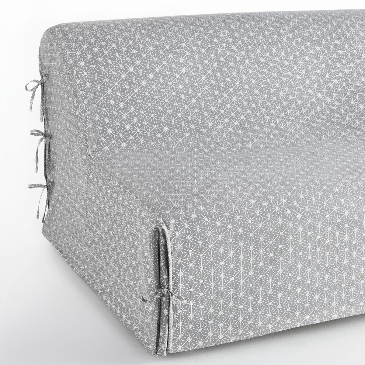 цена Чехол La Redoute Для раскладного дивана LOZANGE 140 см серый онлайн в 2017 году