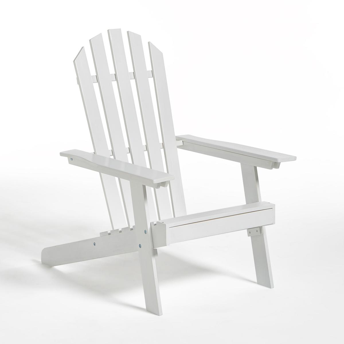 Стильное садовое кресло Adirondack, 3 положения, гамма  ZedaСадовое кресло Zeda в стиле Адирондак. Сделанное по образу легендарного американского кресла, удобного и функционального, это кресло соединяет в себе влияние природы и несравненный комфорт !Немного небрежный шарм начала XXвека   придает легкий налет старины как вашей террасе, так и всему интерьеру!Характеристики :- Из акации, выращенной в лесах устойчивого управления- С покрытием под тиковое дерево или цветнымКресло в стиле Адирондак доставляется в разобранном виде, инструкция по сборке в комплекте.Описание чехла для подушки Bayac Размеры садового кресла :3 положения Длина : 69 смШирина : 89/94,5Высота : 86,5/98 см Размеры сиденья :Длина  53x Ширина 45x высота 34Размеры упаковки :1 посылкаДлина 98 смШирина 55,5 см Высота 15 смВес 10,5 кг Качество :Акация обладает хорошими механическими свойствами (прочность, устойчивость к насекомым и грибам, устойчивость к непогоде и чередованию сухой и влажной погоды). Доставка:Садовое кресло поставляется готовым к сборке . Товар может быть доставлен прямо до квартиры при предварительной договоренности по телефону!Внимание! Убедитесь, что товар проходит по габаритам (дверные проемы, лестницы, лифты).<br><br>Цвет: белый,синий<br>Размер: единый размер.единый размер