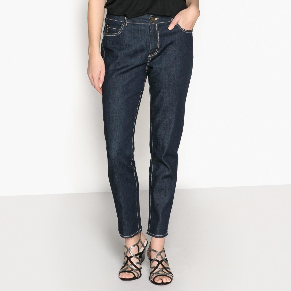 Jeans slim, 7/8, efeito push-up