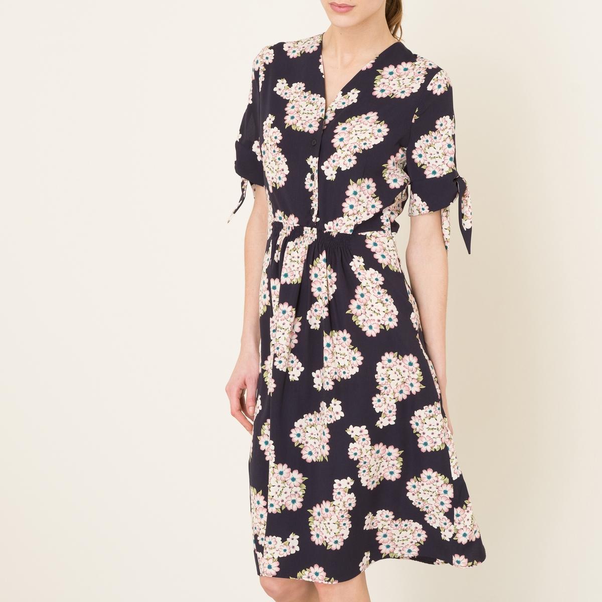 Платье BOTANIQUEСостав и описание Материал : 100% полиэстерДлина : 110 см. для размера 36Марка : LA BRAND BOUTIQUE<br><br>Цвет: рисунок темно-синий