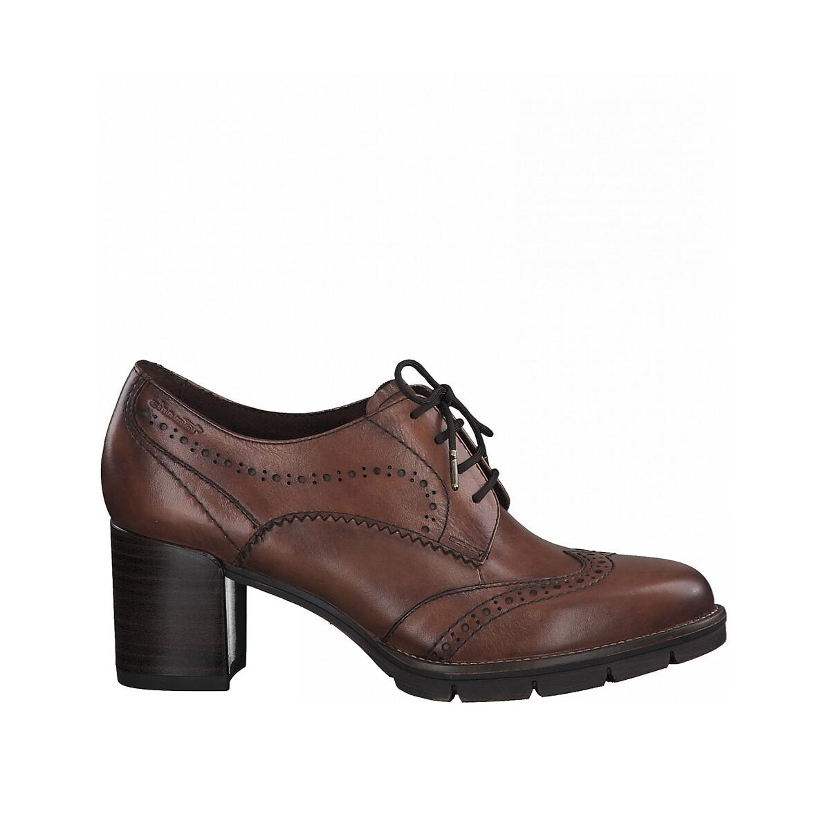 Ботинки LaRedoute Из кожи на каблуке 40 каштановый ботинки дерби из кожи teadale maira
