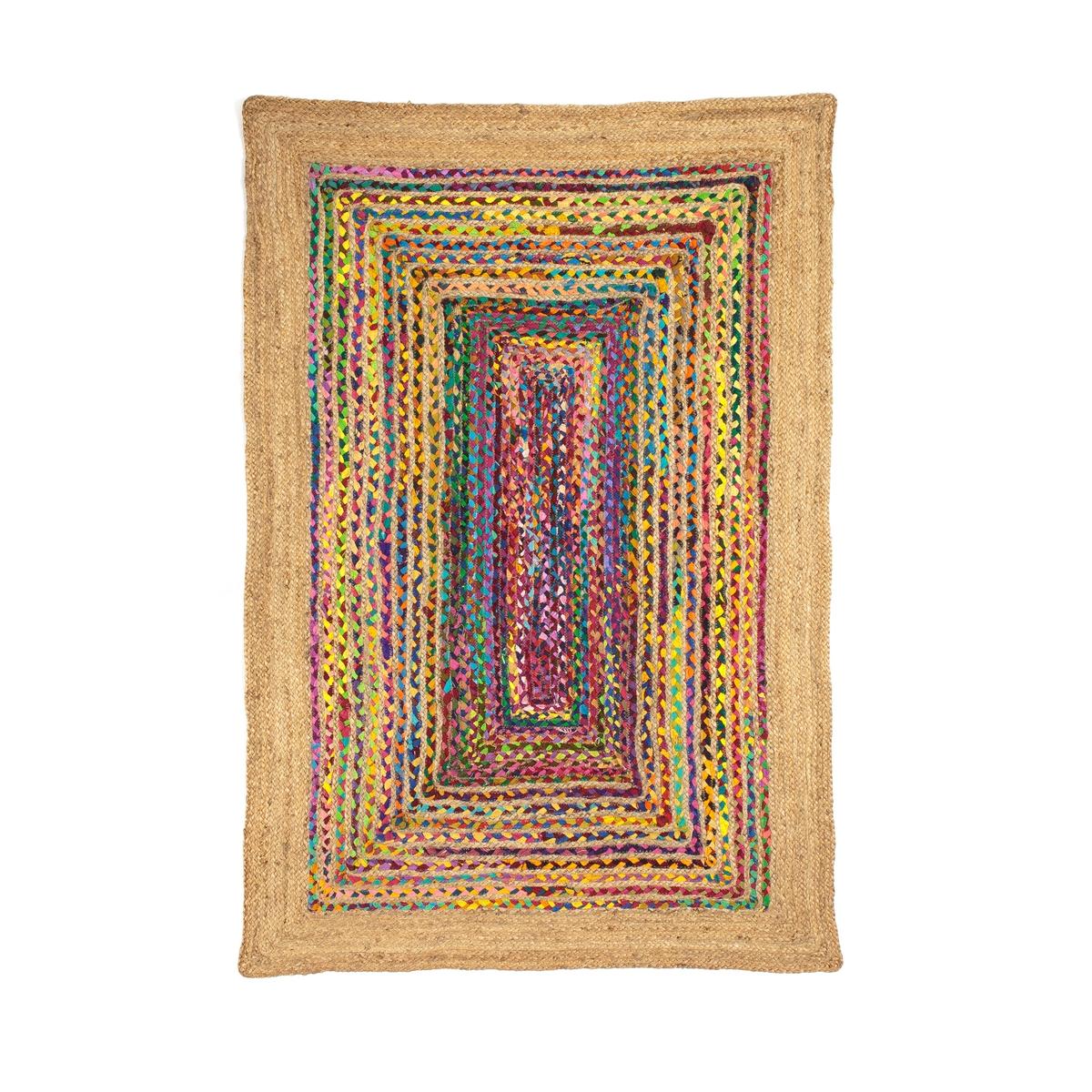 Фото - Ковер LaRedoute Из джута и разноцветного хлопка Jaco 120 x 180 см разноцветный ковер laredoute из джута и хлопка пастельных тонов bazyli 120 x 180 см разноцветный