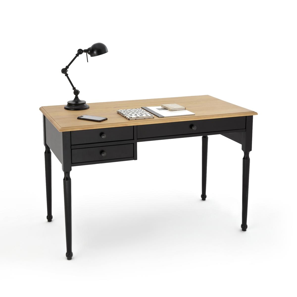 Стол La Redoute Письменный из массива сосны AUTHENTIC STYLE единый размер черный