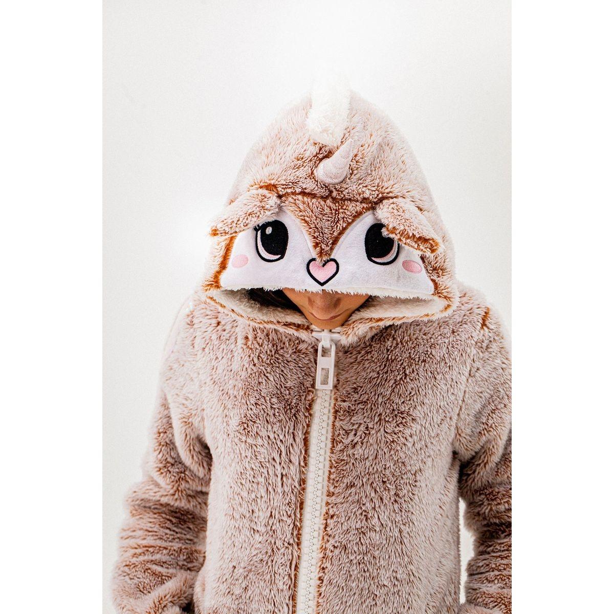 Sweat zippé à capuche renard FOXY
